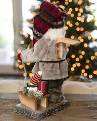 german santa nutcracker with sleigh balsam hill