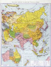 Map Of The Asia by Large Scale Detailed Old Political Map Of Asia 1934 Old Maps