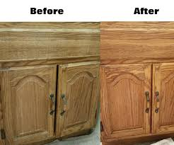 how to freshen up stained kitchen cabinets easily renew wood cabinets without actually refinishing 6