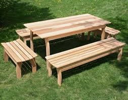 Park Bench And Table Table Benches Dining Table With Bench Diy Dining Table Bench