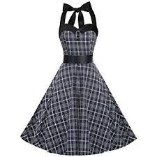 yunicus womens vintage 1950 u0027s style halter neck dress 50s retro