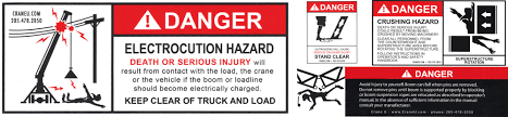 safety decals crane inspection operator training and safety testing