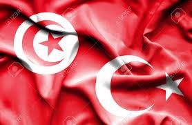 Turkey National Flag Waving Flag Of Turkey And Tunisia Lizenzfreie Fotos Bilder Und