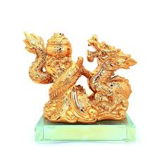 feng shui golden dragon with wealth pot lazada malaysia