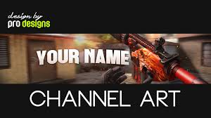 free csgo banner youtube template psd m4a4 howl youtube