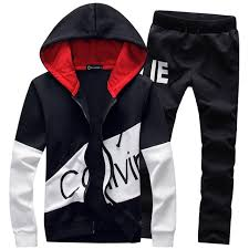 men set casual sporting suit men hooded tracksuit track polo men s sweat