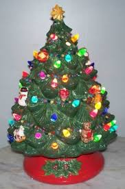 christmas tree with lights sale 14 lighted green ceramic christmas tree with snow and music box
