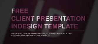 free presentation template indesign free client presentation