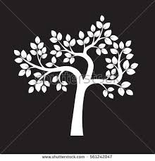 white tree on green background vector stock vector 574965520