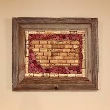 montana wine cork board in a barnwood frame wine cork