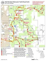Michigan Orv Trail Maps by Little Manistee Orv Maplets