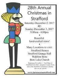 28th annual christmas in strafford craft fair
