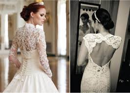 wedding dress lace back and sleeves wedding dress lace sleeve