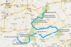 trip map the kentucky waterfall road trip