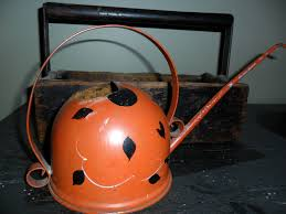 antique vintage metal tole old watering can decorative watering