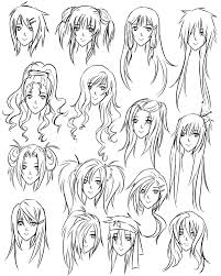 drawing hair styles how to draw hairstyles for girls