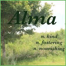 girls name alma name meaning kind fostering nourishing name