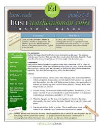 one rule arts integration lesson irish washerwoman rules educationcloset