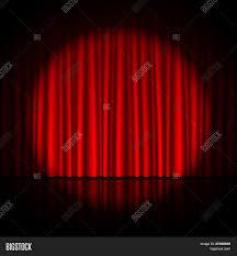 spotlight on stage curtain vector stock vector u0026 stock photos