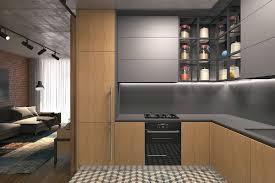 open plan apartment design modern living area small in bulgaria