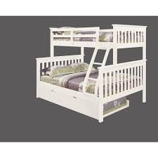 White Bunk Bed With Trundle Bunk Bed Mission Style With Trundle In