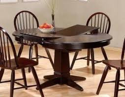 round dining table with butterfly leaf foter