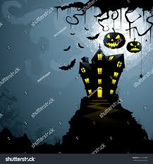 vector illustration haunted castle scary halloween stock vector