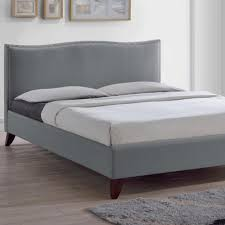 Gray Platform Bed Gray Beds U0026 Headboards Bedroom Furniture The Home Depot