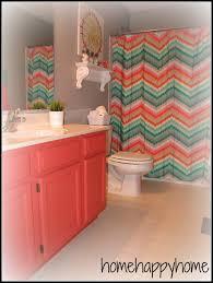 Tween Bathroom Ideas Colors Home Happy Home Gray And Coral Kid Teen Bathroom Decor