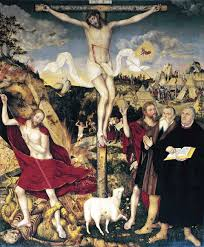 cranach lucas the younger weimar altarpiece crucifixion central