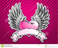 pink heart tattoo stock image image 8315551