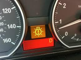 warning lights on bmw 1 series dashboard external headlight failure help