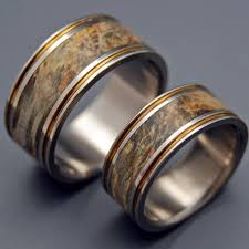 wood rings wedding minter richter wooden wedding rings alchemist titanium ring