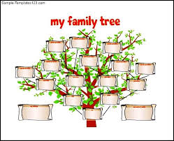 family tree template for kids free pdf format sample templates