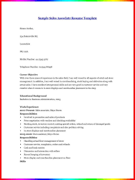 Resume Sales Associate Skills How To Write A Resume For A Sales Associate Position Sales
