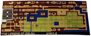 legend of zelda map with cheats legend of zelda overworld recreated in lego geekologie