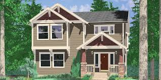 Narrow Lot House Plans With Rear Garage Walkout Basement House Plans Daylight Basement On Sloping Lot