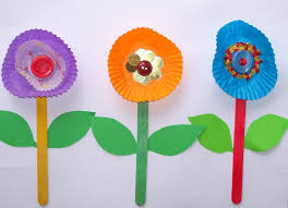 crafts for kids flower craft free kids pop sticks easy patty