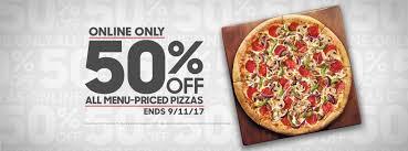 pizza hut 50 coupon through today wral