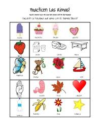 las rimas rhyming worksheet spanish by llamalovekindergarten tpt