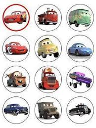 cars cake toppers cars edible cupcake toppers 12 disney pixar cars edible images for