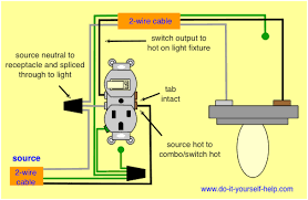 wiring diagrams for switch to control a wall receptacle do it with