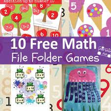 10 fun math file folder games free printable file folder games