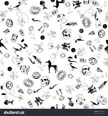 fun halloween repeating background fun repeat pattern featuring monsters creatures stock vector