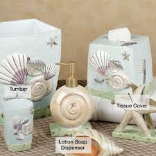 themed soap dispenser spa shells bath accessories