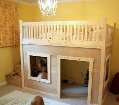 maxtrix playhouse loft bed with stairs in white and panel bed