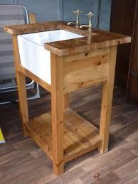 stand alone kitchen sink unit belfast sink in free standing pine unit free standing