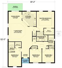 4 bedroom house floor plans small 4 bedroom mediterranean house plan 32212aa architectural