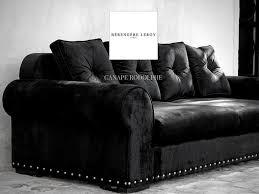 canapé velours noir canapé clouté en velours noir canapés sur mesure en velours