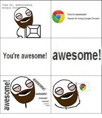 Pc Meme - new pc downloading google chro you re a thanks for trying google